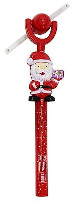 1, 2 Kids Santa Flashing light up led spinning windmill toy glows XMAS GIFT TOY