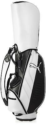 PUMA Golf Men s Caddy Bag CB Core 9 x 47 inch 3.1kg 867751 White Black EMS  W T 86552b565e896