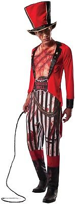 Mens Bloody Lion Tamer Circus Zombie Scary Halloween Fancy Dress Costume Outfit - Lion Tamer Male Costume