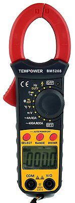 Tekpower Bm5268 Digital Clamp Meter Acdc Voltage 600v Ac Current 600a