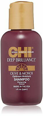 CHI Deep Brilliance Olive & Monoi Moisture Shampoo Mini Travel Size 2oz - Sealed