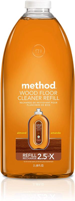 Method Squirt + Mop Hardwood Floor Cleaner Refill, Almond, 6