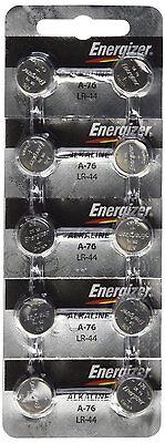 10 FRESH Energizer A76 LR44 AG13 L1154 G13 V13GA Alkaline Button Batteries