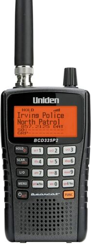 Uniden BCD325P2 Handheld TrunkTracker V Scanner. 25,000 Dynamically Allocated Ch