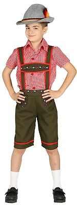 Jungen Bayrischen Lederhose Oktoberfest Kostüm Kleid Outfit 5-12 - Jungen Lederhosen Kostüm