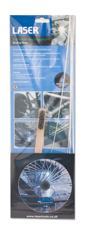 aluminium zink guss damge reparatur rod schwei en werkzeug set dvd nein flux ebay. Black Bedroom Furniture Sets. Home Design Ideas