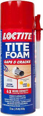 Loctite Tite Foam Insulating Foam Sealant Gaps Cracks 12-ounce Can