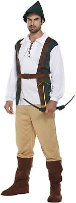 Robin Hood Fancy Dress Dressing Up Outfit Hunter Medieval Costume Adult Male NEW](Medieval Costumes Male)