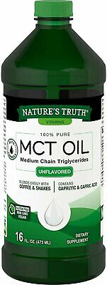 Natures Truth 100% Pure MCT Oil Medium Chain Triglycerides 1