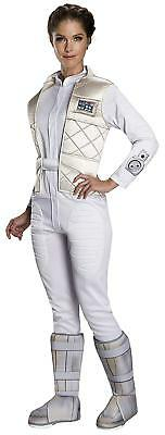 Princess Leia Hoth Star Wars Classic Fancy Dress Halloween Deluxe Adult Costume