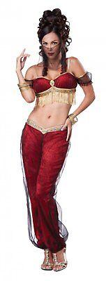 Womens Genie Costumes (WOMENS RED DREAMY GENIE COSTUME SIZE SMALL)