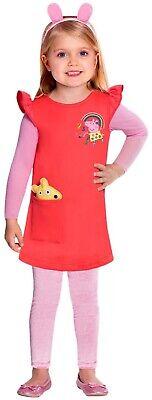 Mädchen Offiziell Peppa Pig Kleid Cartoon-Tv Buch Tag - Offizielle Cartoon Kostüme