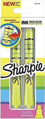 Sharpie Ink Indicator Highlighters Chisel Tip Fluorescent Yellow - 2 Count