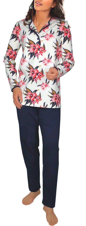 Damen-Pyjama Schlafanzug (DF267) Gr. 48-50 Baumwolle-Jersey