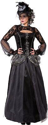 Ladies Dark Morbid Witch Halloween Vampire Fancy Dress Costume Outfit UK 6-16