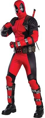 Mens Official Marvel Deadpool Professional Cosplay Fancy Dress Costume Outfit (Official Marvel Costumes)