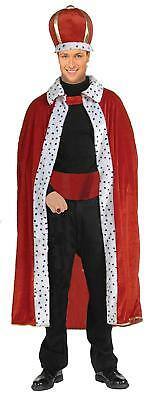 King Robe Crown Royal Medieval Fancy Dress Halloween Costume Accessory 2 COLORS