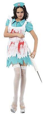 Damen Sexy Zombie Toter Blutige Krankenschwester Halloween Kostüm Kleid - Sexy Blutige Kleid Zombie Kostüm