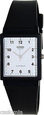 Casio MQ27-7B Mens Classic Black Resin Analog Casual Dress Watch - White Dial Mens Classic Dress Watch