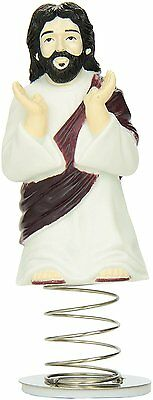 Dashboard Jesus Bobble Head String Car Dash Adhesive Christ Figure Accoutrements