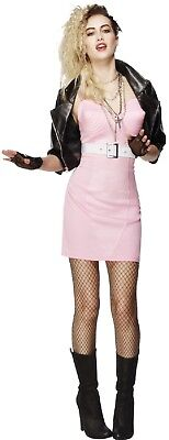 Damen 1980s Jahre 80s Wildes Kind Rock Diva Punk Pop Ikone Kostüm Kleid (Diva Kind Kostüme)