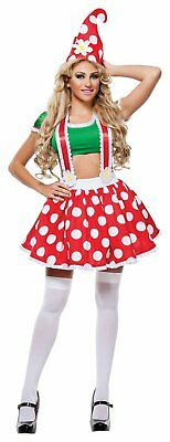 Starline Toadstool Sexy Gnome Halloween Costume Small NO HAT #5210](Halloween Costume Gnome)