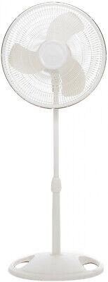 Oscillating 16 Pedestal Stand Fan 3-Speed W/ Blue Plug Home