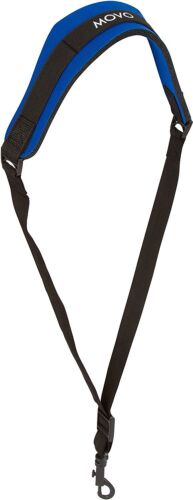 Movo MS-20L-B Neoprene Instrument Strap for Saxophones Clarinets Blue/Long
