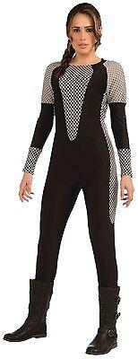 Damen die Tribute von Panem Katniss Overall Büchertag Kostüm Kleid (Katniss Kostüm Kleid)