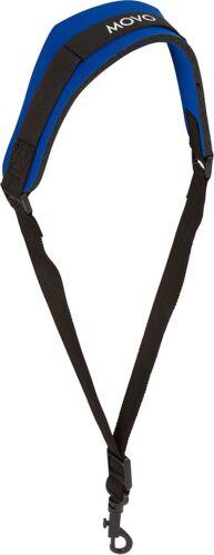 Movo MS-20J-B Neoprene Instrument Strap for Saxophones Clarinets Blue/Medium
