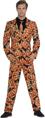 Herren PUMPKIN JACK O Laterne Anzug Halloween Kostüm Kleid Outfit M L XL (Halloween Kostüm Kleid Anzug)