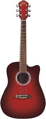 Oscar Schmidt OD45CRDB-PAK Dreadnought Acoustic Guitar with Padded Gig Bag