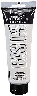 Liquitex BASICS Acrylic Paint 8.45-oz tube, Titanium White, New, Free Shipping