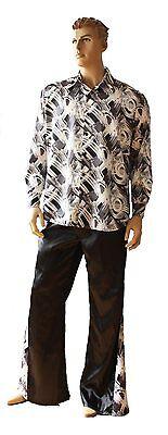 Mens Gents 70's Style Disco Fancy Dress Costume Sizes - M - XL