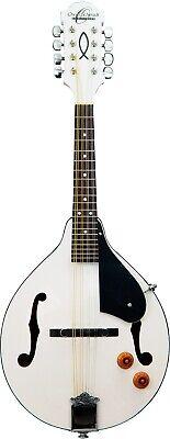 Oscar Schmidt OM10EWH  A style Acoustic Electric Bluegrass Mandolin w/ pickup