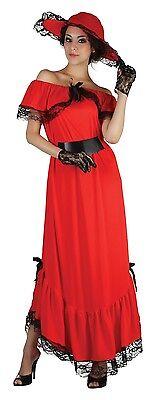 Damen Scarlet O'Hara 1930er Jahre 30er Buch Film Kostüm Kleid Outfit 10-12-14