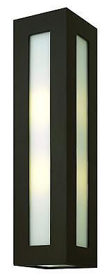 Hinkley 2195BZ Contemporary Modern Two Light Wall Mount in Bronze/Dark Finish,