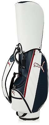 PUMA Golf Men s Caddy Bag CB Core 9 x 47 inch 3.1kg 867751 White Navy EMS  W T e2ae50273d955