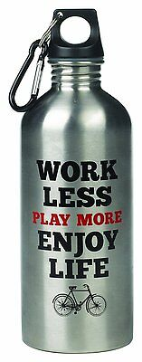 Wild and Wolf Work Less Play More Water Bottle](Fun Water Bottles)