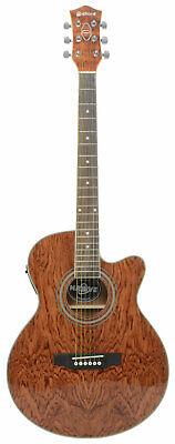 Deluxe 6 String Mini Jumbo Parlour Electro- Acoustic Guitar, Bubinga Finish Sale