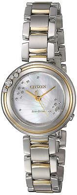 Citizen Eco-Drive Carina Women's EM0464-59D Diamond Accents Two-Tone 28mm Watch