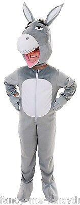 Mädchen Jungen Kinder Grau Esel Tier Maskottchen Kostüm Kleid Outfit 7-8-9 Jahre ()