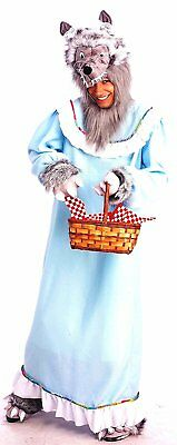 Granny Wolf Red Riding Hood Fairy Tale Fancy Dress Up Halloween Adult Costume