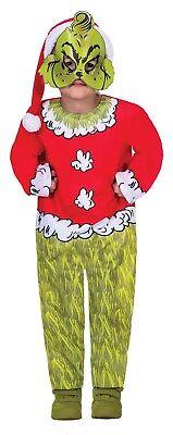 Kinder Jungen Mädchen Offizielles The Grinch Santa Buch - Grinch Kostüm Kind