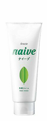 Kracie Japan naive Face Wash Foam 130g - Tea Leaf Extract