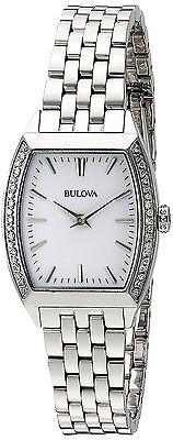 Bulova 96R196 Women's Diamond White Dial Silver Stainless Steel Bracelet Watch