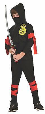 BLACK NINJA COBRA CHILD HALLOWEEN COSTUME BOY'S SIZE MEDIUM - Black Ninja Boy Kostüm