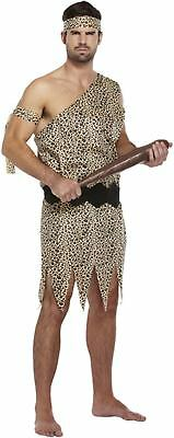 Mens Fancy Dress Up Outfit Caveman Leopard Skin Stone Age Jungle Costume - Caveman Outfit Halloween