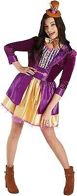 Damen Willy Wonka Tv Buch Film Büchertag Roald Dahl Kostüm Kleid (Willy Wonka Kostüm Damen)