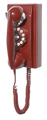 Crosley 302 Wall Phone - Red CR55-RE New